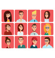 Business people flat avatars Men and women vector image