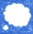 grunge blue bubble vector image