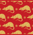 2020 chinese new year background year rat vector image