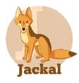 ABC Cartoon Jackal vector image