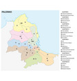 administrative and political map palermo italy vector image vector image