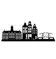 amsterdam skyline holland vector image
