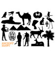 ancient egypt symbols of gods and travel landmarks vector image