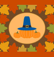autumn thanksgiving day background with pumpkin vector image vector image