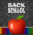 back to school background with doodle elements vector image