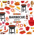 barbecue party invitation bbq template menu vector image