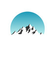 beautiful mountain silhouette in blue daylight sky vector image vector image