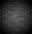 black brick wall vector image vector image