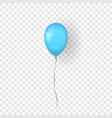 blue balloon 3d thread isolated white vector image