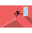 Businessman jumping to success vector image vector image