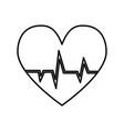 cardio heart icon vector image vector image