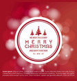 christmas greetings card with christmas tree ball vector image vector image