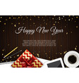 christmas working place christmas gift box vector image