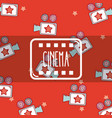 cinema cute cartoons pattern background vector image
