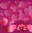 Circles and hearts vector image vector image