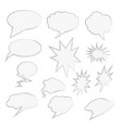 comics style speech bubbles set isolated vector image vector image