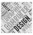computer graphic design Word Cloud Concept vector image vector image
