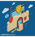 Computer security data protection concept vector image vector image