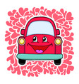 cute red car vector image vector image