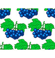 dark blue berry pattern vector image vector image