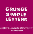 distressed grunge alphabet stamp ink font vector image vector image