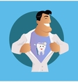 Doctor Dentist Character Design Flat vector image vector image