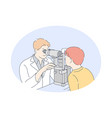 doctor medicine ophthalmologist concept vector image