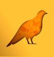 dove bird paper cutout design for peace concept vector image vector image