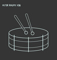 drums icon line element of vector image