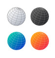 earth globe set planet in different colors vector image vector image