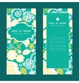 emerald flowerals vertical frame pattern vector image
