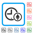 ethereum credit clock framed icon vector image vector image