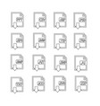 files format icon set vector image vector image