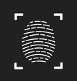 fingerprint scanning icon for apps with security vector image vector image
