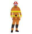 fireman flat icon service 911 cartoon vector image vector image