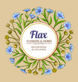 flax frame vector image vector image