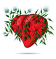 flower heart petals and dandelions vector image vector image