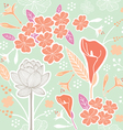 flower pattern set 1B vector image vector image