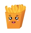 french fries kawaii style vector image vector image