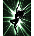 Go go dancer and laser show vector | Price: 1 Credit (USD $1)