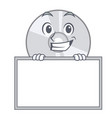 grinning with board cd character cartoon style vector image vector image