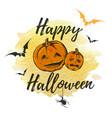halloween greeting card vector image