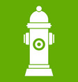 hydrant icon green vector image vector image