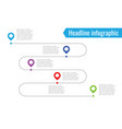 infographic path dotted line 5 dots vector image