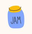 jar jam cartoon doodle stock icon in flat vector image