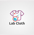 lab cloth logo icon element and template for vector image vector image