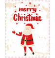 merry christmas santa claus wishes happy holidays vector image vector image