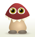 Mushroom monster vector image