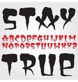Old school hardcore font vector image vector image
