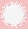 openwork lace round doily suitable for laser vector image vector image